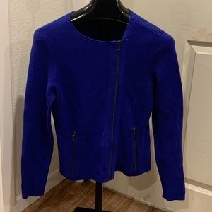 Chico's Asymmetrical Cotton blend jacket